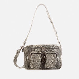 Núnoo Women's Ellie Snake Shoulder Bag - Grey