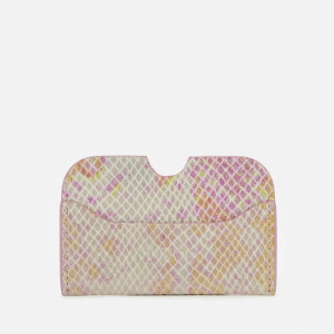 Núnoo Women's Carla Snake Card Holder - Pink