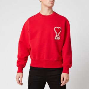 AMI Men's De Coeur Sweatshirt - Rouge