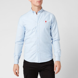 AMI Men's Boutonne Shirt - Light Blue