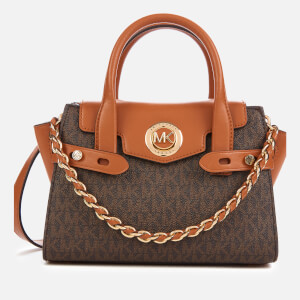 MICHAEL MICHAEL KORS Women's Carmen XS Flap Messenger Bag - Brown/Acorn