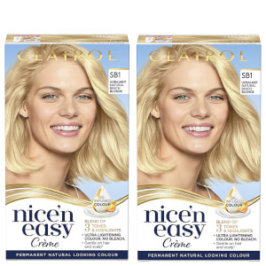 Clairol Nice' n Easy Crème Natural Looking Oil Infused Permanent Hair Dye Duo (Various Shades)