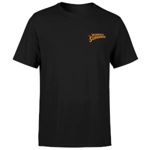 DC Superman Embroidered Unisex T-Shirt - Black