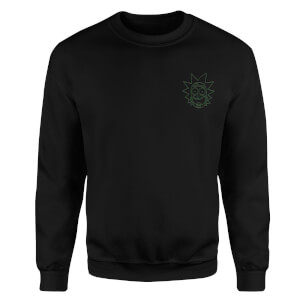 Rick and Morty Rick Embroidered Unisex Sweatshirt - Black