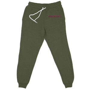 DC Birds of Prey Boobytrap Embroidered Unisex Joggers - Khaki