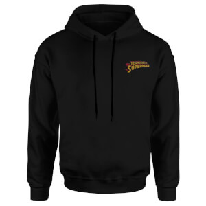 DC Superman Embroidered Unisex Hoodie - Black