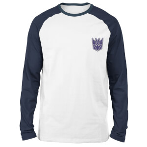 Transformers Decepticons Unisex Long Sleeved Raglan T-Shirt - White/Navy
