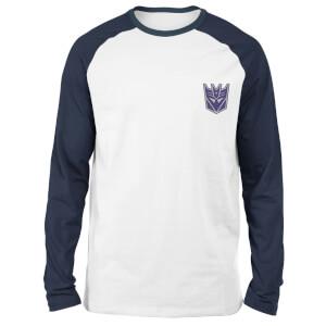 T-shirt à manches longues Raglan Transformers Decepticons - Blanc/Bleu Marine - Unisexe