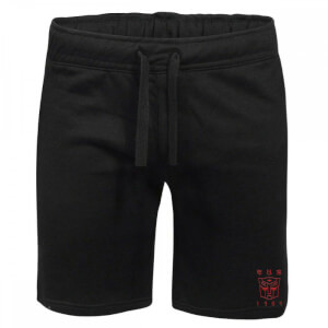 Transformers Autobots Embroidered Unisex Jogger Shorts - Black