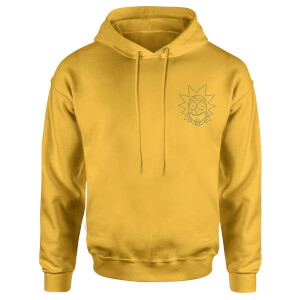 Rick and Morty Rick Embroidered Unisex Hoodie - Yellow
