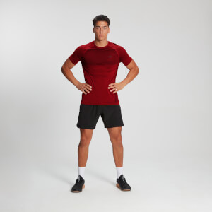 MP Men's Essential Short Sleeve Seamless T-Shirt - Danger Marl