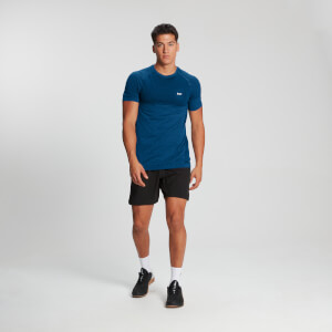 MP Men's Essentials Seamless Kortermet T-skjorte – Pilot  blå  melert