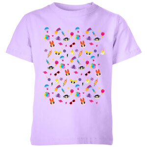 The Powerpuff Girls Pattern Kids' T-Shirt - Lilac