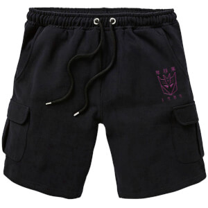 Transformers Decepticons Embroidered Unisex Cargo Shorts - Black