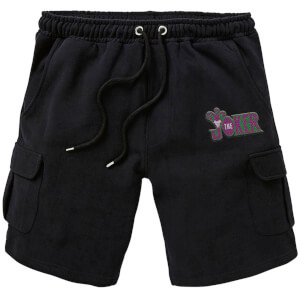 DC Joker Embroidered Unisex Cargo Shorts - Black