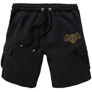 Harry Potter Hufflepuff Embroidered Unisex Cargo Shorts - Black
