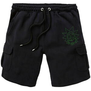 Shorts Cargo Rick and Morty Rick - Brodé - Noir - Unisexe