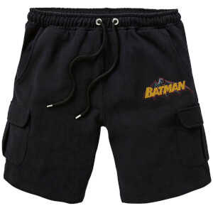 DC Batman Embroidered Unisex Cargo Shorts - Black