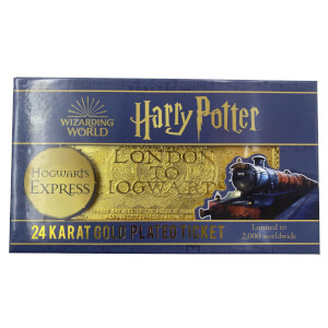 Harry Potter 24k Gold Plated Hogwarts Express Ticket Limited Edition Replica - Zavvi Exclusive
