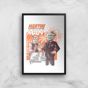 Ilustrata Martini Man Giclee Art Print