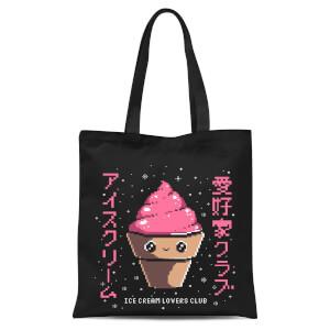 Ilustrata Ice Cream Lovers Club Tote Bag - Black