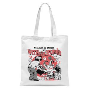 Ilustrata Lucifur Tote Bag - White