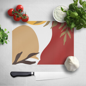 Hot Tone Abstract Leaves Chopping Board
