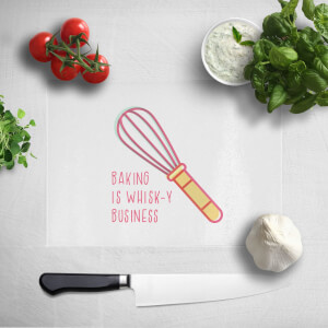 Baking Is Whisk-y Business Chopping Board
