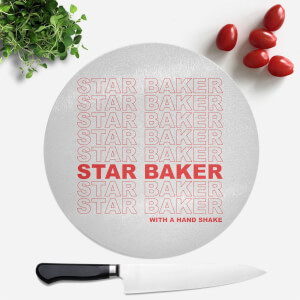 Star Baker With A Hand Shake Round Chopping Board
