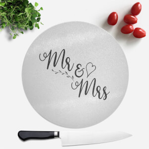 Mr & Mrs Round Chopping Board