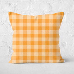 Baking Blanket Orange Square Cushion