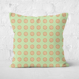 Pie Pattern Square Cushion