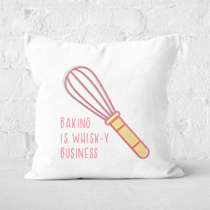 Baking Is Whisk-y Business Square Cushion