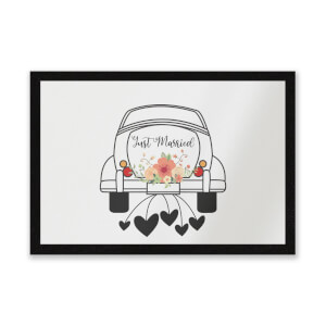 Just Married Car Entrance Mat