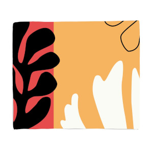Abstract Warm Leaves Fleece Blanket