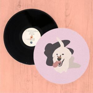 Dog With Butterfly Nose Slip Mat