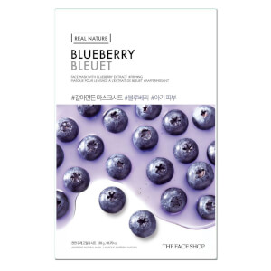 THE FACE SHOP Real Nature Sheet Mask Blueberry