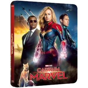 Exclusivité Zavvi : Steelbook Lenticulaire Captain Marvel - 4K Ultra HD (Blu-ray 2D Inclus)