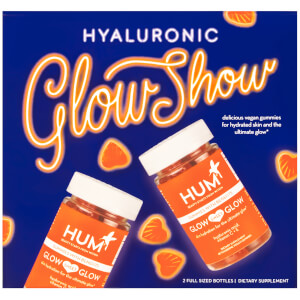 HUM Nutrition Hyaluronic Glow Show - 2 Bottles of Glow Sweet Glow (2 x 60 Vegan Gummies, 30 Days)