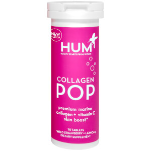 HUM Nutrition Collagen POP Premium Marine Collagen + Vitamin C Skin Boost (30 Dissolvable Tablets, 30 Days)