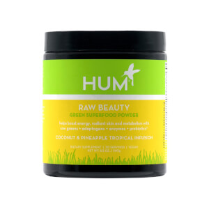 HUM Nutrition Raw Beauty Green Superfood Powder Coconut and Pineapple Tropical Infusion 8.5 oz