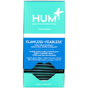HUM Nutrition 14 Day Flawless and Fearless - Daily Cleanse and OMG! Omega the Great (60 Softgels, 60 Vegan Capsules, 30 Days)