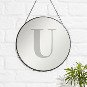 U Engraved Mirror