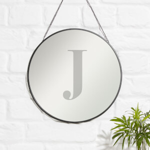 J Engraved Mirror