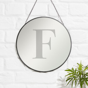 F Engraved Mirror