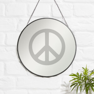 Peace Sign Engraved Mirror