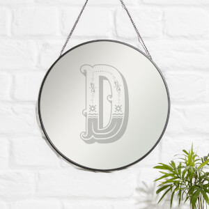 Circus D Engraved Mirror