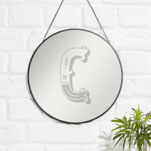 Circus C Engraved Mirror