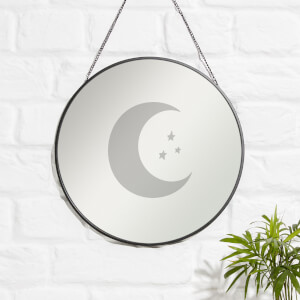 Moon And Stars Engraved Mirror