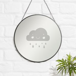 Rain Cloud Engraved Mirror